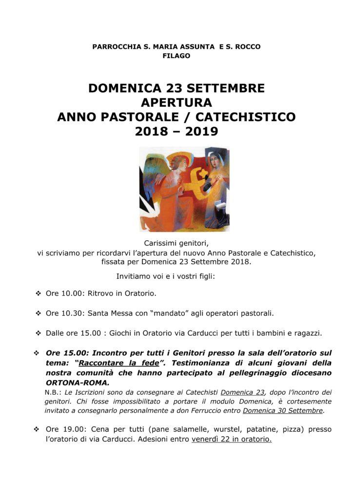ISCRIZIONE catechismo locandina