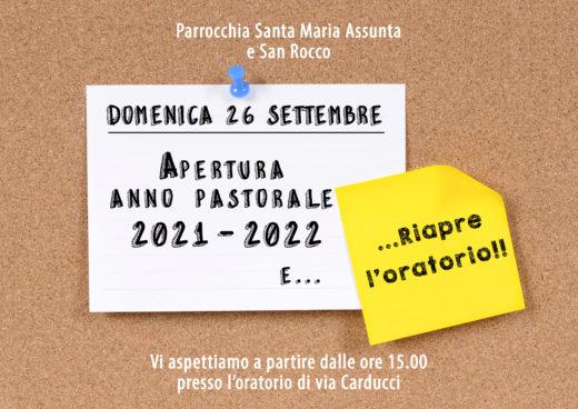 Apertura anno pastorale 21